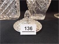 Wexford Decanter, Jars, Creamer, Lid (5)