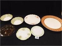 Plates, Bowls- Variety - (7)
