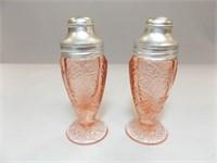 Glass Salt & Pepper, Pink