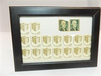 1 and 3 Cent Stamps, Uncirculated in Frame