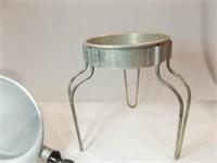 Aluminum Sieve, Stand, Wood Pestle