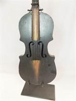 "Violin & Stand Décor, Tin, 27"""