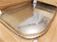 "Antique Mirror with Trim, 24"" x 14"""