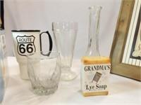 Variety Box- Picture, Lye Soap, Glasses, Vase