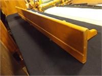 "Wood Shelf with Pegs, 48"" x 5½"""