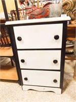 """Painted Small Chest of Drawers, 30"""" x 19"""" x 15"""""""