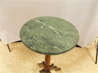 """Wood Plant Stand w/ Stone Top, 29"""""""