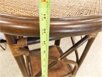"Round Wicker Table, 30"" tall x 25"" round"