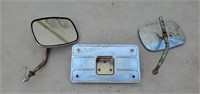 Harley License Plate Bracket & Mirrors