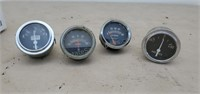 Fuel, Oil Pressure, & Amperes Gauges