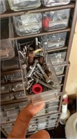 Plastic organizers w misc Hardware