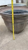 Set of 4 Large Plastic Planters