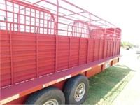 2013 Gooseneck 24'x6.6' cage top stock trailer