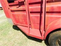 Stidham 5'x16 full cover bumper pull stock trailer