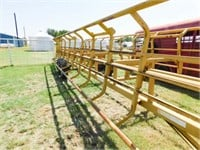 Atchison MFG, 14000lb, double sided hay trailer