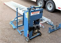RGC (Reiman & Georger Corp) Pro Drive 400 Laddervator, 400 lb cap, w/(2) 16', (1) 8' & (1) 4' ladder sections, SN: 1310-0104.  NOTE: This item will be sold at live auction, however absentee bids can be placed if you are unable to attend the auction. More details and pictures can be viewed by clicking the catalog tab and view Lot #12.