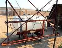 3-Pt Sprayer w/Booms, 200- Gal Plastic Tank, w/box of fittings & hose.  NOTE: This item will be sold at live auction, however absentee bids can be placed if you are unable to attend the auction. More details and pictures can be viewed by clicking the catalog tab and view Lot #20.