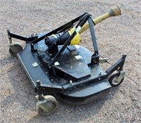 Northern Tool Finish Mower, 5', 3-pt, 540 pto, w/3-new blades + 3 extra replacement blades.  NOTE: This item will be sold at live auction, however absentee bids can be placed if you are unable to attend the auction. More details & pictures can be viewed by clicking the catalog tab and view Lot #23