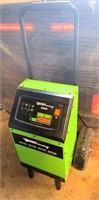 Forney Battery Charger, 6v/12v, digital display, pneumatic tires.