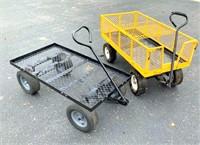 (2) Metal Garden Carts