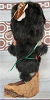 N - BEAUTIFUL BLACK BEAR KATCHINA DOLL SIGNED