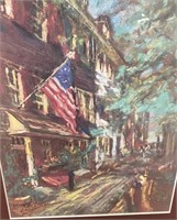 38 - SIGNED/NUMBERED/FRAMED HOMEFRONT W/FLAG