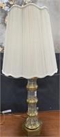 11 - BEAUTIFUL CRYSTAL BASE TABLE LAMP