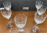 38 - SIGNED SET OF 6 DIIRAND WINE GLASSES