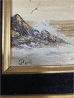 38 - LOT OF 3 SIGNED FRAMED WALL ART