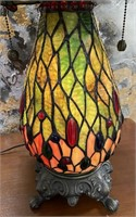 11 - GORGEOUS TIFFANY STYLE DRAGONFLY LAMP