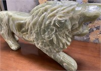 38 - STUNNING GREEN ONYX LION - SEE PICS