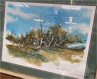 38 - SIGNED/NUMBERED/FRAMED FENCELINE ART