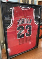 11 - MICHAEL JORDAN EMBROIDERED MVP STATS JERSEY