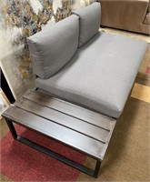 C - BEAUTIFUL NEW PATIO BENCH W/ TABLE