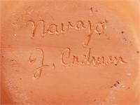 N - NAVAJO POTTERY, NEMA VASE & LIZARD ART