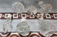 N - LOT OF CRYSTAL DECANTER TOPPERS