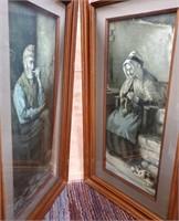 38 - PAIR OF BEAUTIFUL FRAMED MAN & WOMAN WALL ART