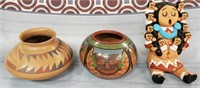 N - LOT OF POTTERY BOWLS & GIRL ART