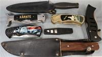 N - LOT OF 7 MIXED KNIVES - SEE PICS