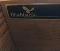 76 - COMPLETE BLACKHAWK KING BEDROOM SET W/MAT&BOX