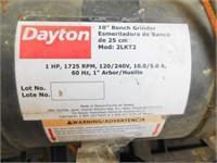 """Dayton Model 2LkT2, 10"""" industrial bench grinder"""