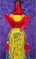 793 - BEAUTIFUL MURANO YELLOW CLOWN