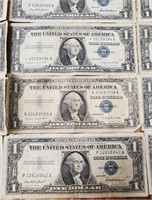 LOT OF 18 SILVER $1 CERTIFICATES
