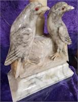 792 - STUNNING ALABASTER BIRD LAMP