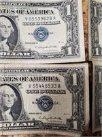 LOT OF (15) $1 SILVER CERTIFICATES