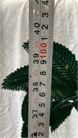 355 - TALL METAL PALM TREE W/HANGING BOX 4 CANDLE