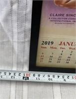 355 - FRAMED CROSBY RADIO PINUP GIRL CALENDAR