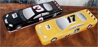 793 - NASCAR COLLECTIBLE TINS W/KNIVES INSIDE