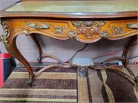 792 - INTRICATE CARVED CONSOLE W/MIRROR