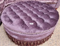 351 - ELEGANT PURPLE SECTIONAL W/ROUND OTTOMAN